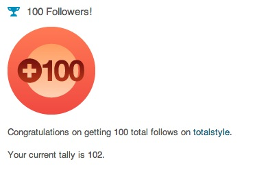 100 Follows!